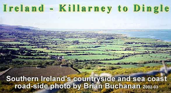 Travel around ireland or ireland on the rise in the fall by southern ireland countryside between killarney and dingle from a roadside vantage point publicscrutiny Images
